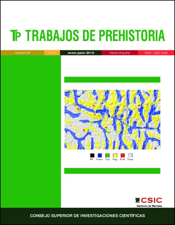 Ilustración de cubierta: Ejemplo del análisis morfométrico efectuado en la Sierra Morena Occidental. Murrieta-Flores, P. (2012). Trabajos de Prehistoria, 69(1): 103-122 doi: 10.3989/tp.2012.12082 (Fig. 5 p. 110)