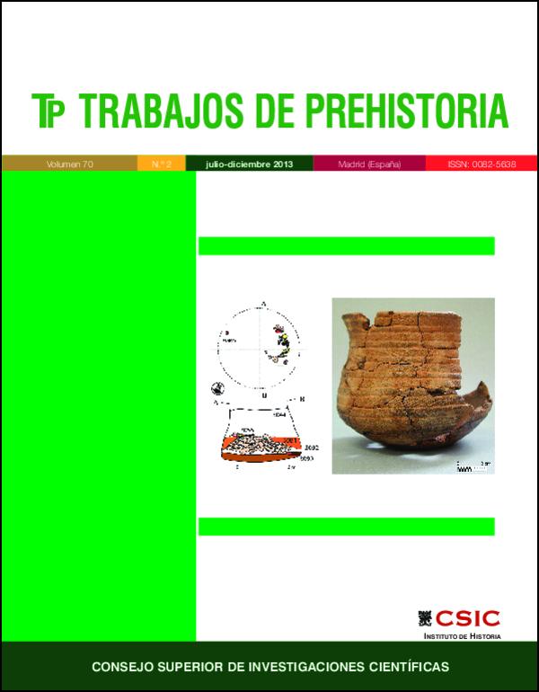 La Vital (Gandía, Valencia): enterramiento 10, correspondiente a un individuo femenino y Campaniforme Marítimo (variedad Herringbone) situado al otro lado de la estructura (Fig. 4, p. 268)
